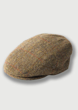 Harris Tweed Flat Cap - Mustard