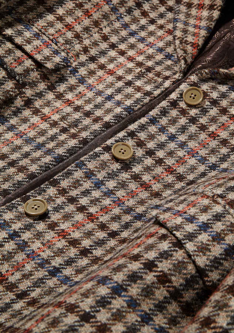 Tina ¾ Coat - Brown Club Check
