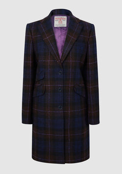 Tina ¾ Coat - Purple/Brown