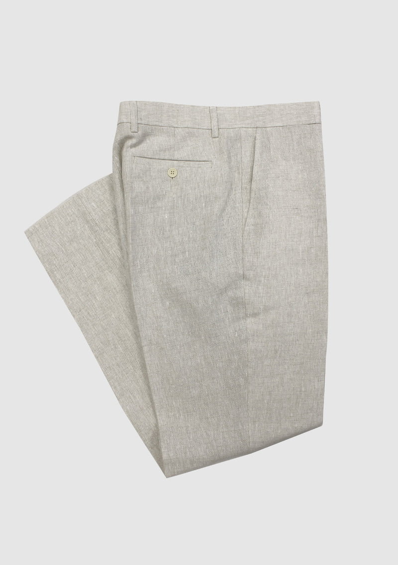 Mens Linen Trousers - Natural