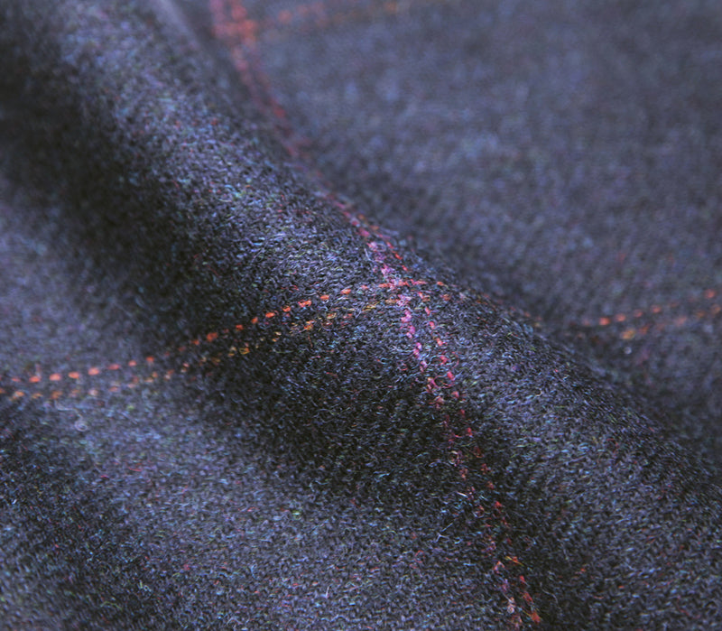 Mens Tweed Trousers - Navy/Pink