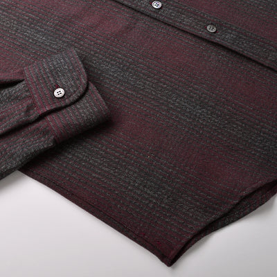 Maroon Shadow Plaid Flannel Shirt