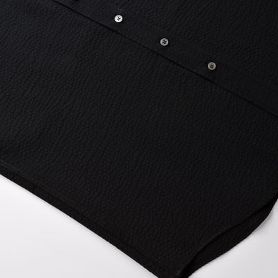 Black Seersucker S/S Shirt