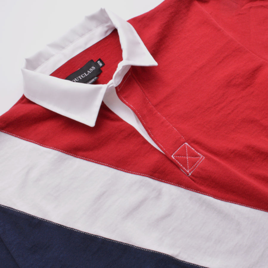 Red And Navy Collegiate S/S Rugby