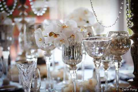 vintage cut glass wedding
