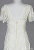 1970 Soutache and Lace Vintage Wedding Dress - Mill Crest Vintage