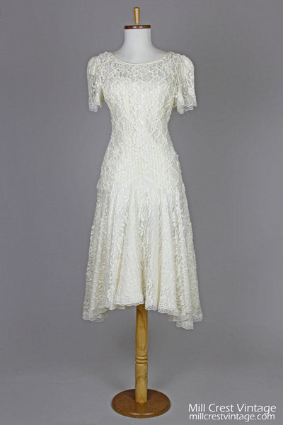 1970 Soutache And Lace Vintage Wedding Dress-Mill Crest Vintage