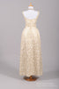 1960 Metallic Brocade Vintage Wedding Gown - Mill Crest Vintage