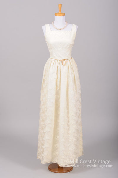 1950 Creamy Rose Vintage Wedding Gown - Mill Crest Vintage
