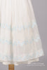 1950 Embroidered Organza Vintage Wedding Dress-Mill Crest Vintage
