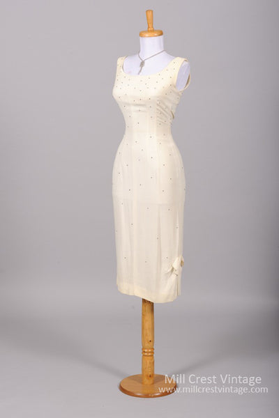 1960 Rhinestone Wiggle Vintage Wedding Dress-Mill Crest Vintage