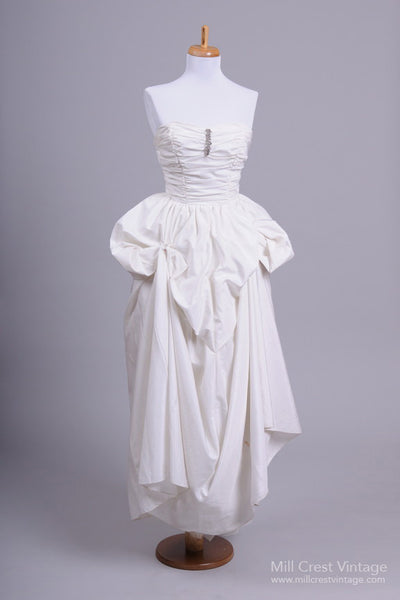1970 Pouf Skirt Vintage Wedding Dress-Mill Crest Vintage