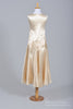 1930 Champagne Satin Vintage Wedding Dress - Mill Crest Vintage