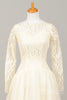 1960 Creamy Lace Vintage Wedding Gown-Mill Crest Vintage