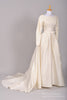 1950 Silk Vintage Wedding Gown-Mill Crest Vintage