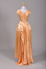 1950 Peach Liquid Silk Vintage Wedding Gown - Mill Crest Vintage