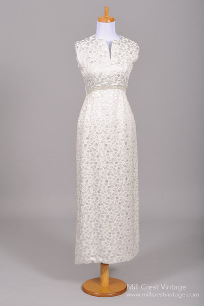 1970 Embossed Vintage Wedding Gown-Mill Crest Vintage