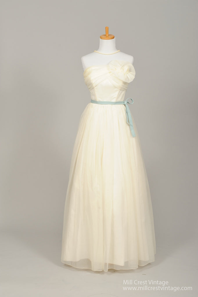 1950 Magnolia Vintage Wedding Gown - Mill Crest Vintage