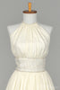 1970 Rhinestone Halter Vintage Wedding Dress-Mill Crest Vintage