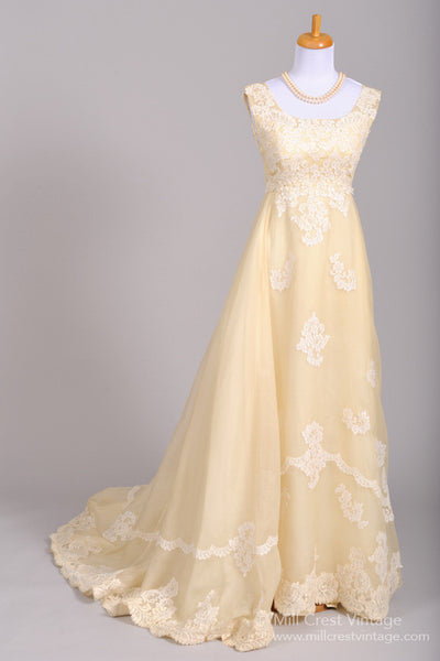 1960 Bianchi Lace Vintage Wedding Gown-Mill Crest Vintage