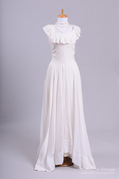 1940 Eyelet Vintage Wedding Gown - Mill Crest Vintage