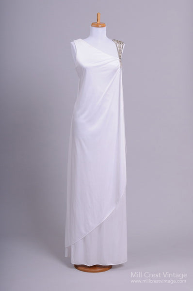 1970 Jeweled Vintage Wedding Gown-Mill Crest Vintage