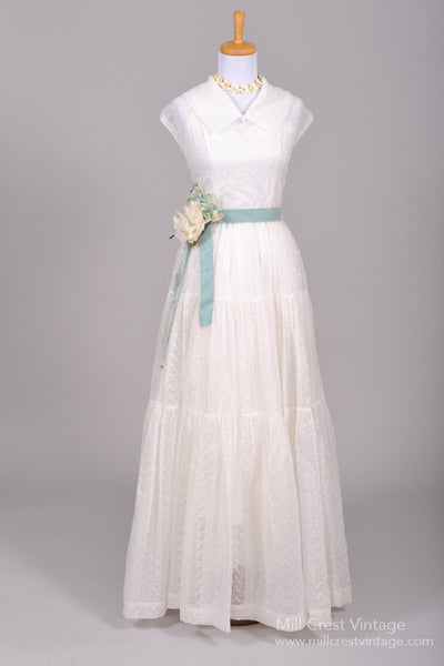 1940 Voile Vintage Wedding Gown - Mill Crest Vintage
