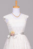 1950 Lace Embroidered Vintage Wedding Dress-Mill Crest Vintage