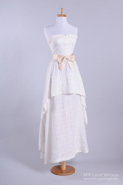 1950 Eyelet Sweetheart Vintage Wedding Dress - Mill Crest Vintage