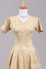 1950 Damask Vintage Wedding Dress - Mill Crest Vintage