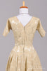 1950 Damask Vintage Wedding Dress-Mill Crest Vintage