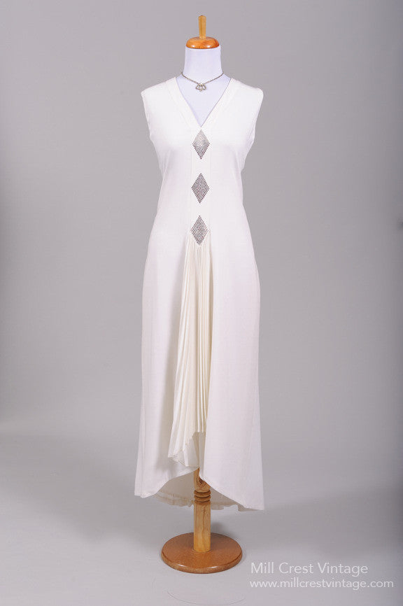 1970 Diamond Chiffon Vintage Wedding Gown-Mill Crest Vintage