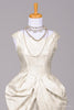 1960 Satin Peplum Vintage Wedding Gown - Mill Crest Vintage