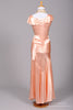 1930 Salmon Slipper Satin Vintage Wedding Gown - Mill Crest Vintage