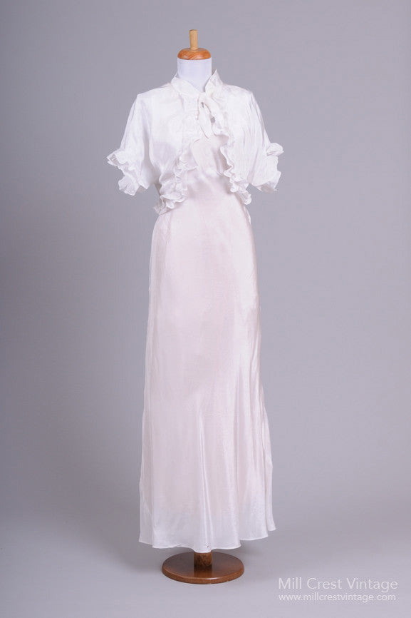 1940 Jean Harlow Vintage Wedding Ensemble-Mill Crest Vintage