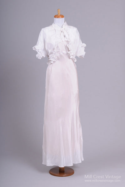 1940 Jean Harlow Vintage Wedding Ensemble - Mill Crest Vintage