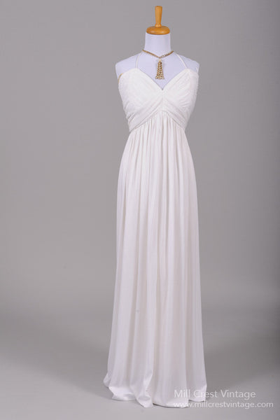 1970 Ribbed Jersey Vintage Wedding Gown-Mill Crest Vintage