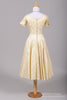 1950 Champagne Jacquard Vintage Wedding Dress-Mill Crest Vintage