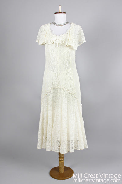 1970 Twenties Vintage Wedding Dress , Vintage Wedding Dresses - 1970 Vintage, Mill Crest Vintage  - 1