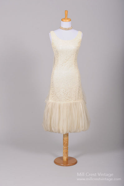 1960 Bubble Vintage Wedding Dress - Mill Crest Vintage