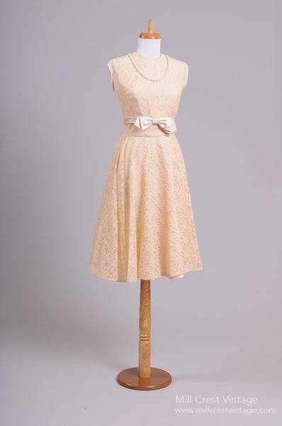 1950 Blush Lace Vintage Wedding Ensemble-Mill Crest Vintage