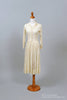 1950 Lace Shirtmaker Vintage Wedding Dress - Mill Crest Vintage