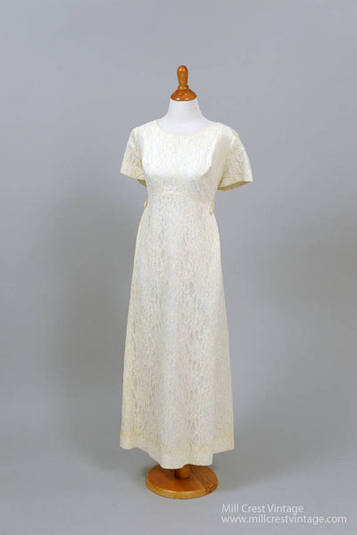 1960 Lace Vintage Wedding Gown-Mill Crest Vintage