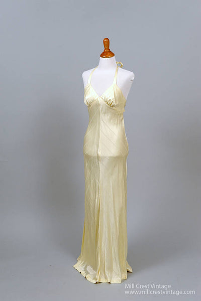 1970 Buttercream Vintage Wedding Gown-Mill Crest Vintage