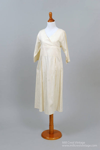 1970 Printed Cotton Vintage Wedding Dress-Mill Crest Vintage
