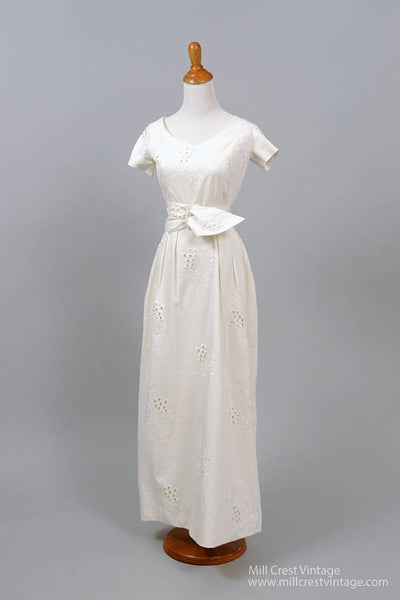 1960 Pique Vintage Wedding Gown-Mill Crest Vintage
