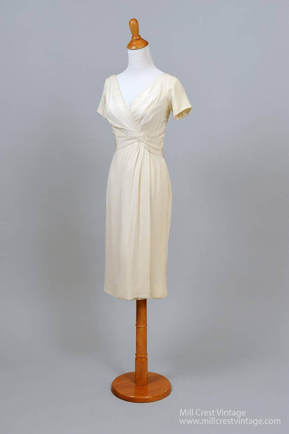 Great 1960 Ceil Chapman Vintage Wedding Dress Mill Crest Vintage