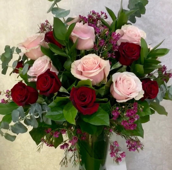 SPECIAL - ONE DOZEN ROSE IN A VASE