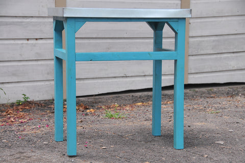 Outdoor Table, Turquoise