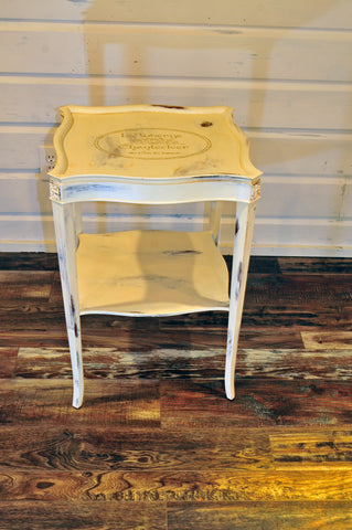 French Shabby Chic End Table